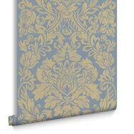 Gloriana Blue Wallpaper, , large