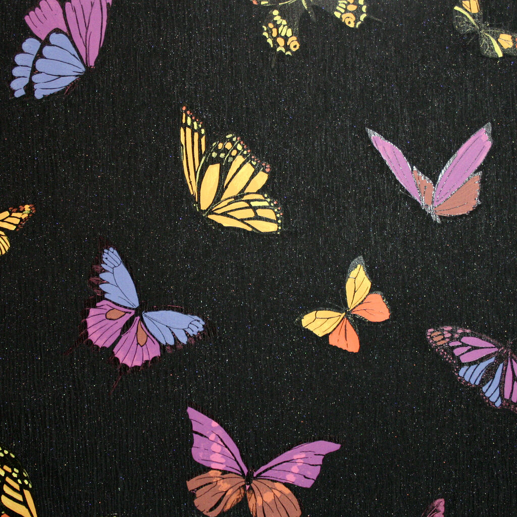 Flutterby black wallpaper graham brown for Flutterby wallpaper