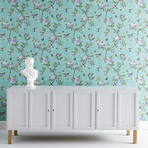 Chinoiserie Jade Wallpaper, , large