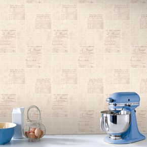 Parisienne Beige Wallpaper, , large