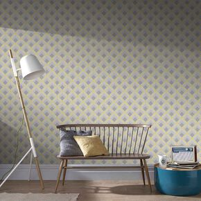 Trifina Geo Yellow Wallpaper, , large