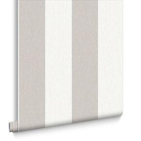 Calico Stripe  Natural Wallpaper, , large