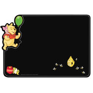 Sticker tableau noir Winnie l'Ourson, , large