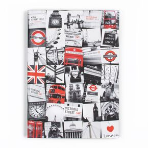London Montage Printed Canvas, , large