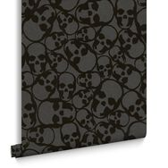 Skulls Black Wallpaper, , large