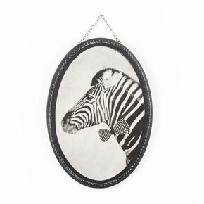 Ziggy Zebra Printed Canvas, , large