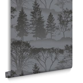 Mirage Charcoal Behang, , large