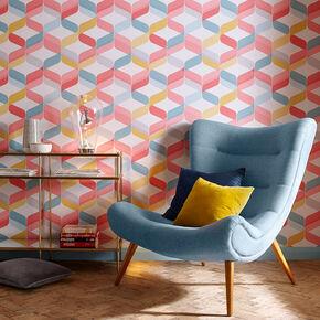 Retro Brights Wallpaper, , large