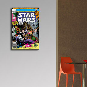 Han Solo & Chewbacca Comic Canvas, , large