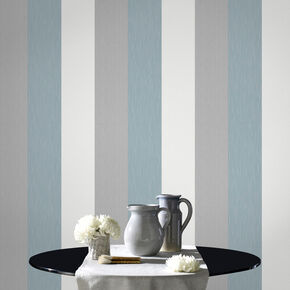 Java Stripe Skye Blue Wallpaper, , large