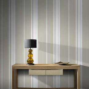 Gradient Stripe Taupe Wallpaper, , large