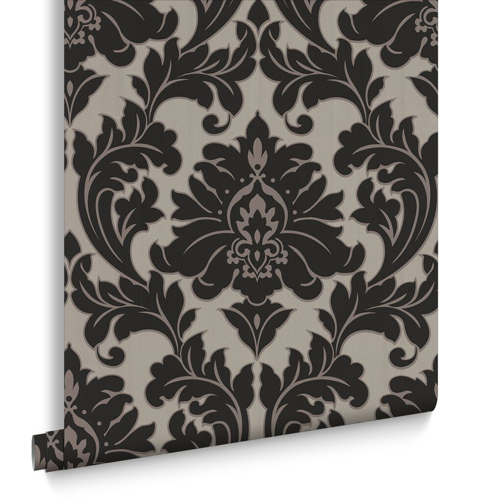 Black Wallpaper Plain Patterned Wallpaper Dark