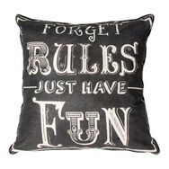 Forget Rules Cushion, , large