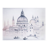 Venice Watercolour View Printed Canvas, , large