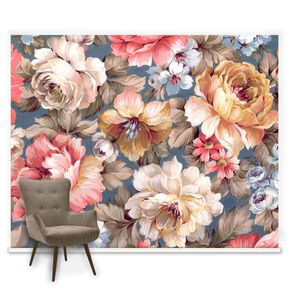 Couture Painterly Floral Mural, , large