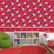 Minnie Red Bow Red Wallpaper, , large