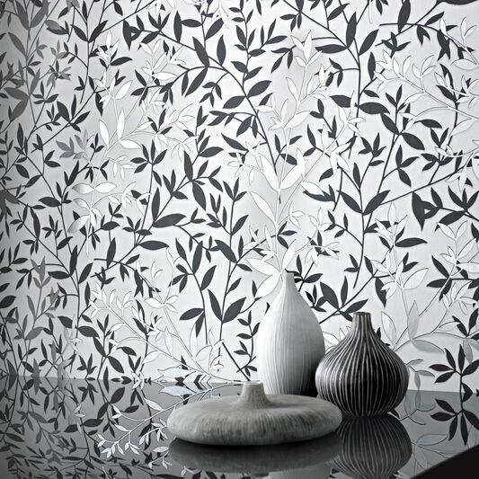 Bijou Black and White Wallpaper, , large