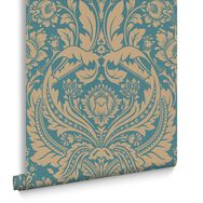 Desire Teal Wallpaper, , large
