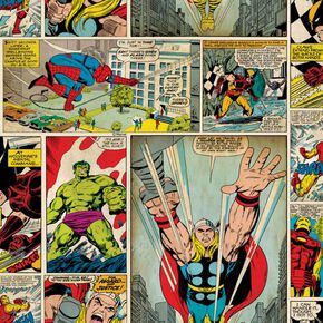 Marvel Comic Strip Wallpaper, , large