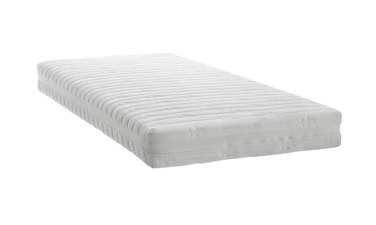 Matratzen - Taschenfederkernmatratze - Weiß - Stoff
