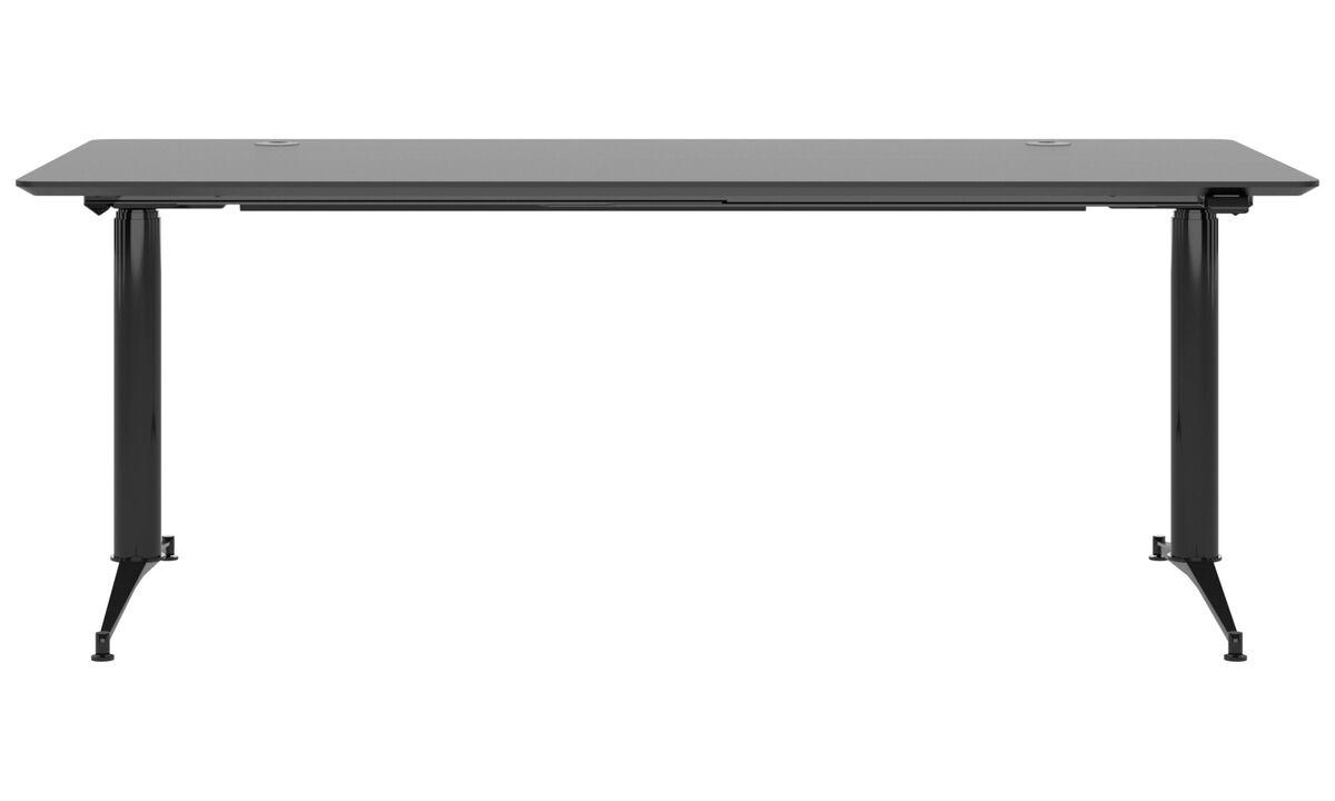 Escrivaninhas - Phoenix mesa de escritório - quadrada - Preto - Linóleo