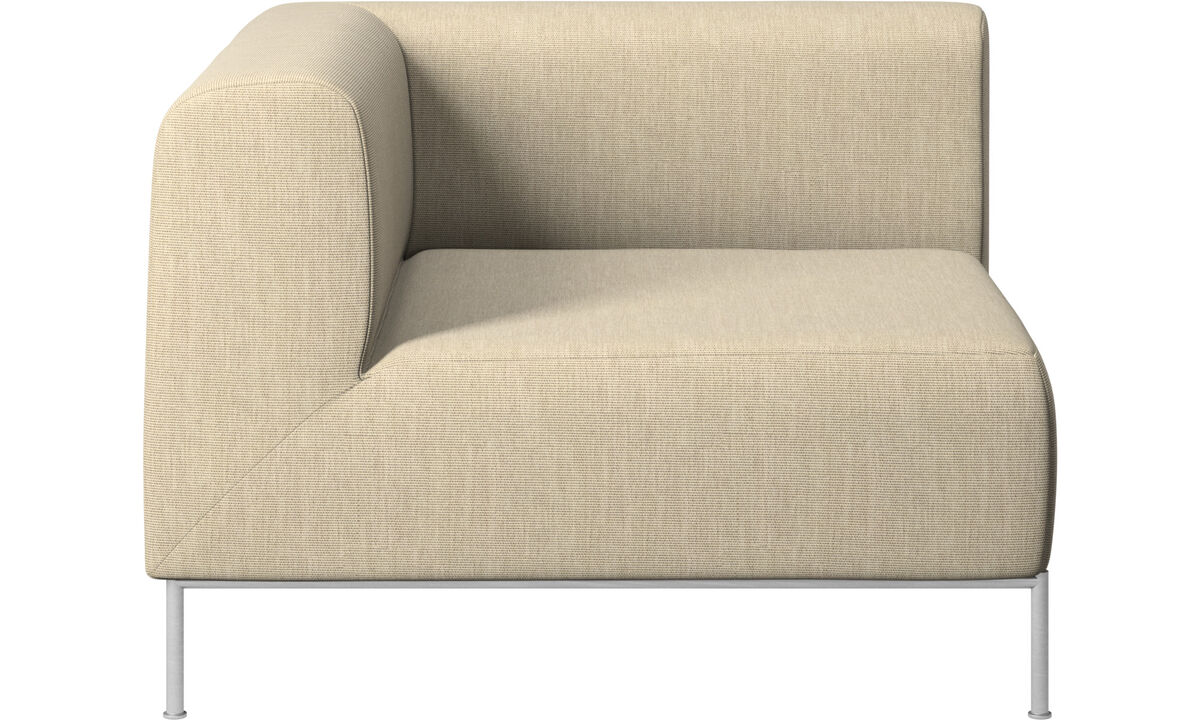 Modular sofas - Miami corner unit left side - Brown - Fabric