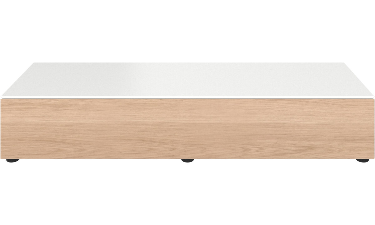Meubles TV - combinaison basse Lugano avec tiroir - Blanc - Laqué