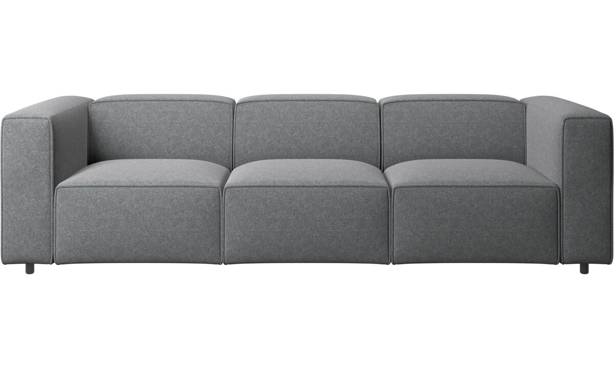 3 seater sofas - Carmo sofa - Gray - Fabric