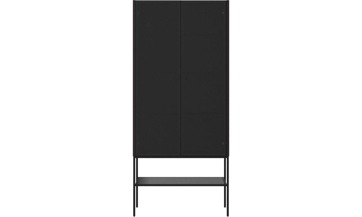 Cabinets - Lisbon glass cabinet - Black - Oak