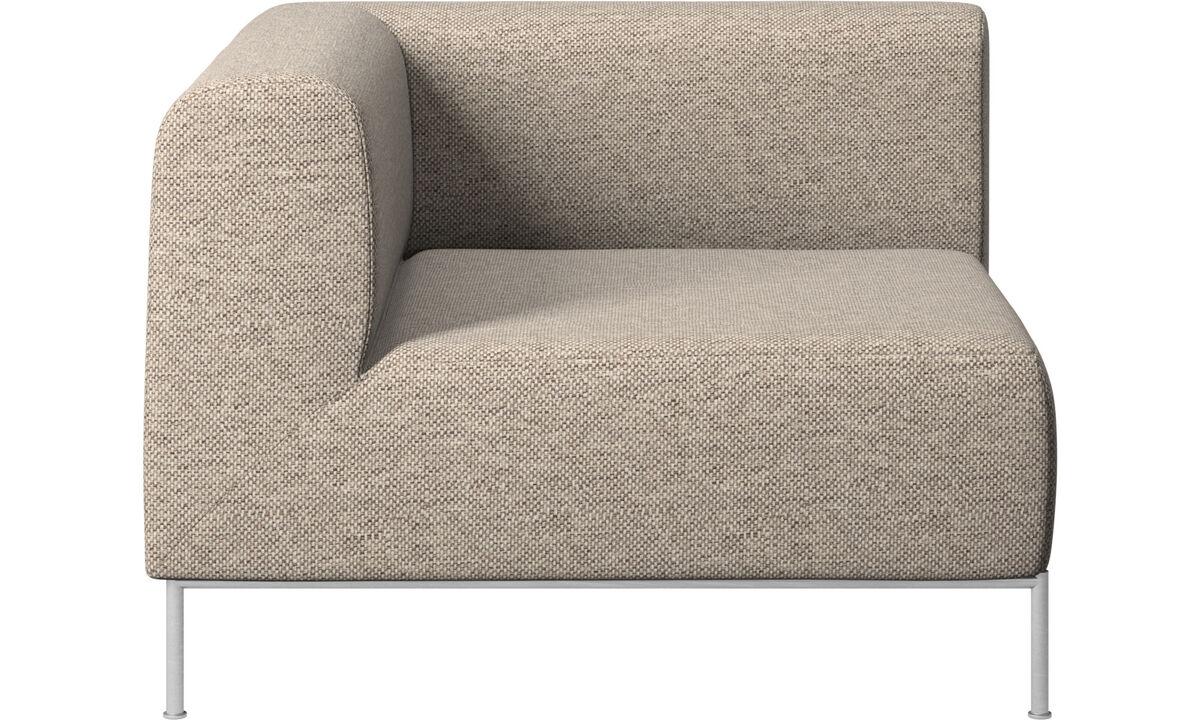 Modulære sofaer - Miami hjørnemodul venstre side - Beige - Stof