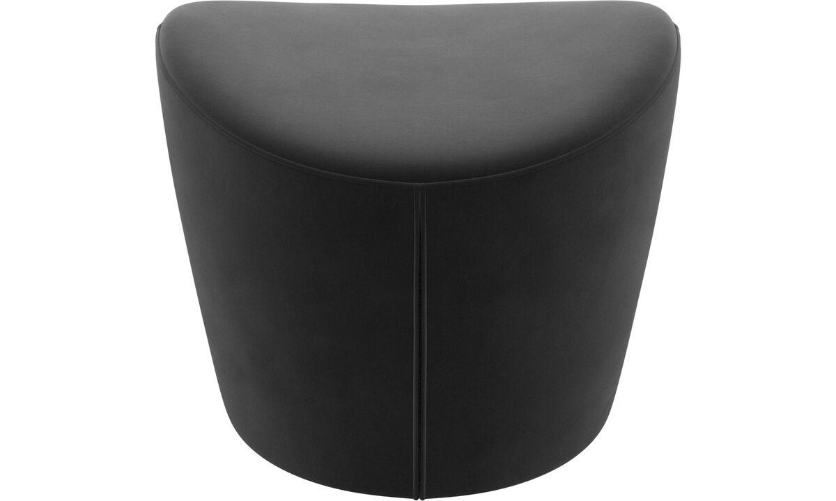Footstools - Rico footstool - Black - Fabric
