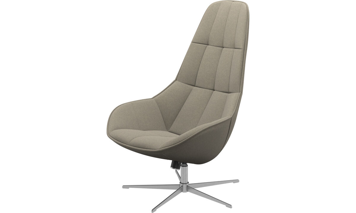 Armchairs - Boston chair with swivel and tilt function - Beige - Fabric