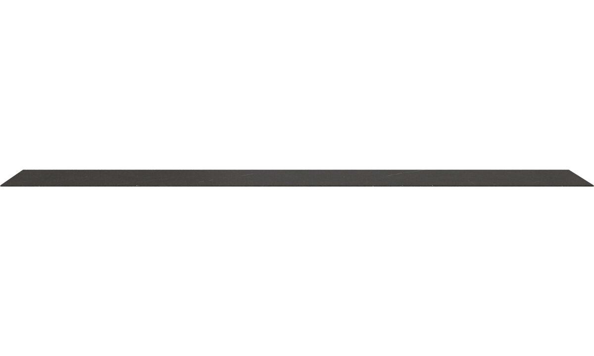 Accesorios para muebles - Plato superior Lugano - En negro - Cerámica