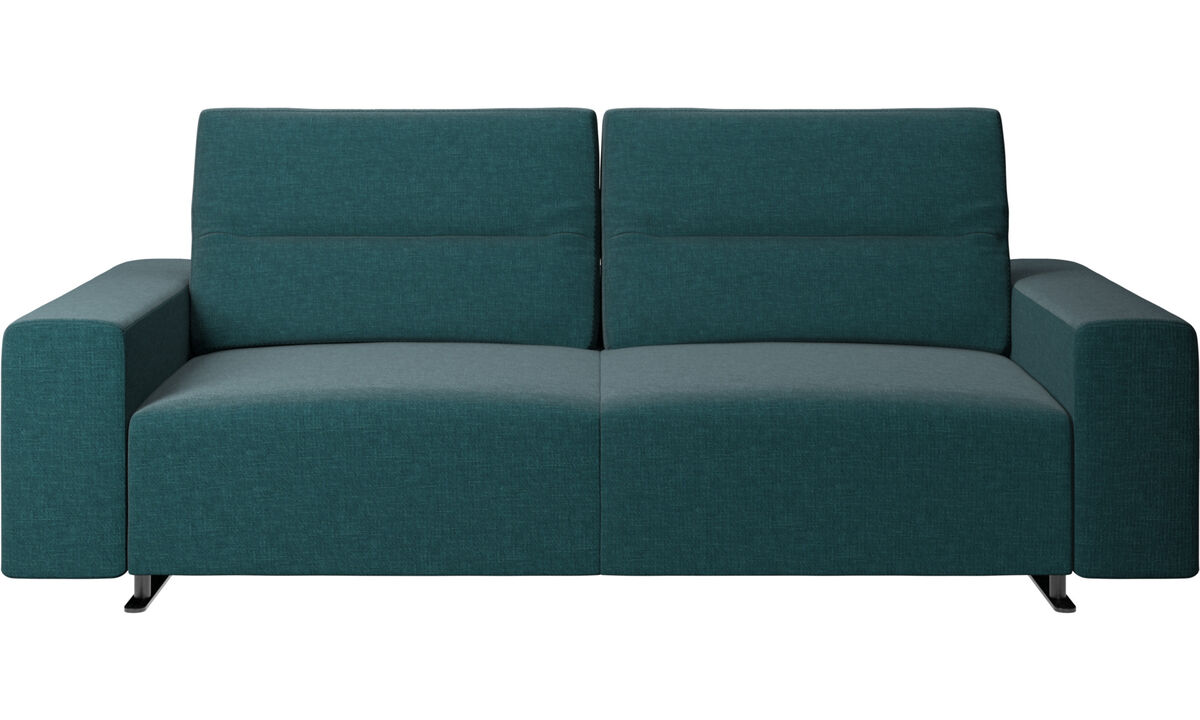 2.5 seater sofas - Hampton sofa with adjustable back - Blue - Fabric
