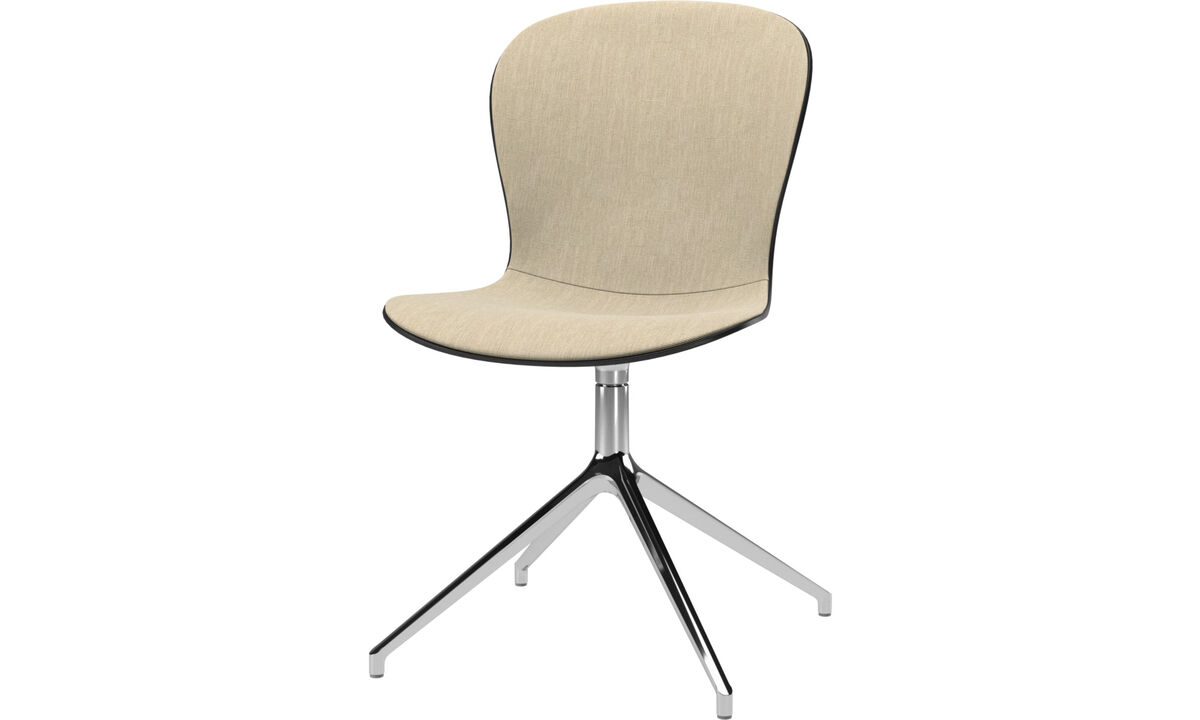 Chaises de bureau - Chaise Adelaide avec fonction pivotante - Marron - Tissu