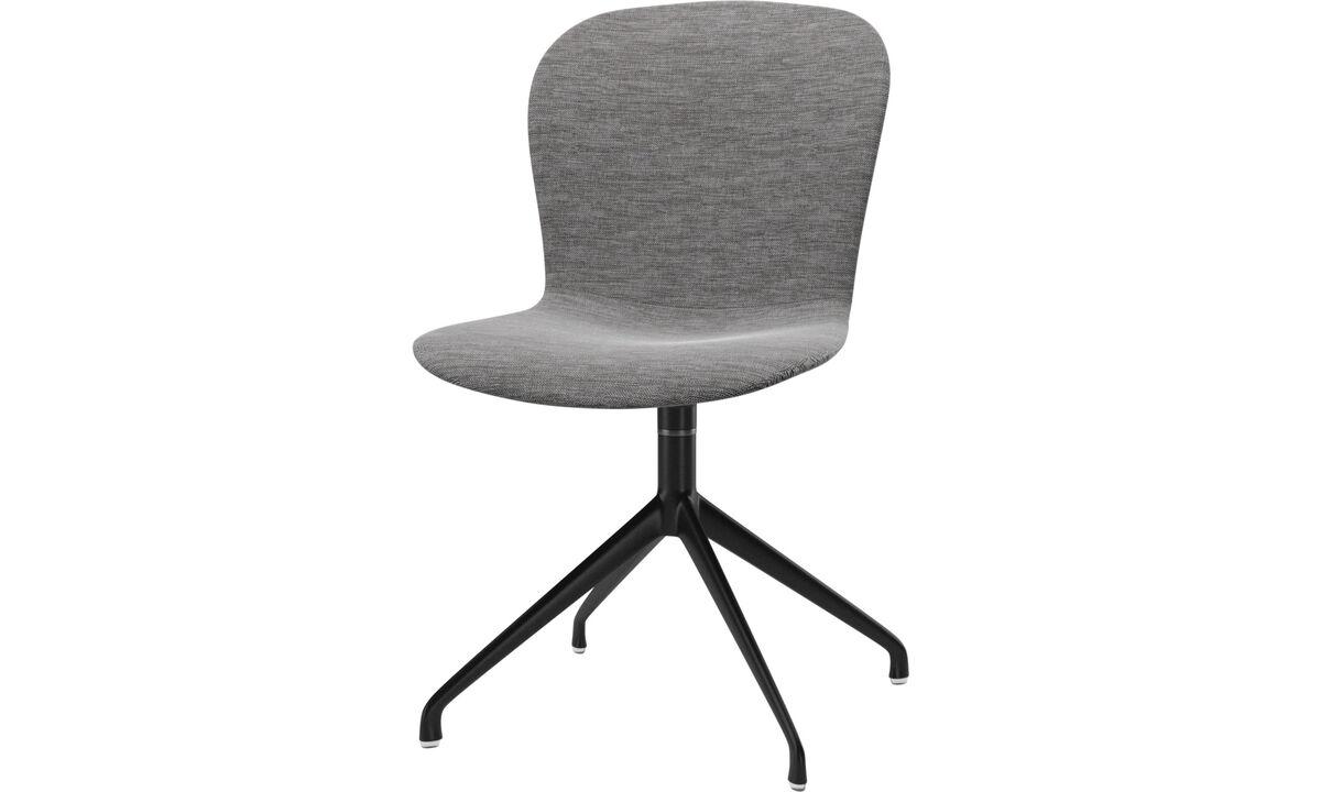 Sillas de comedor - silla Adelaide con función giratoria - En gris - Tela