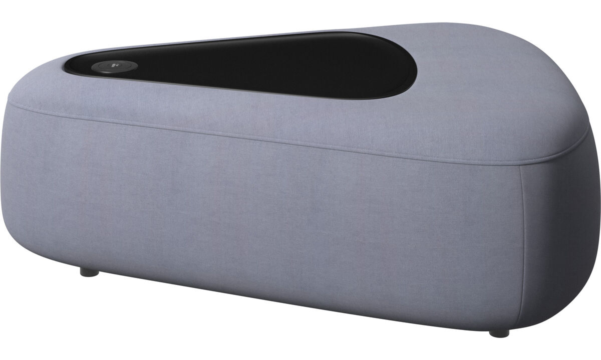 Modular sofas - Ottawa三角蒲团配黑色混油盘 - 蓝色 - 布艺