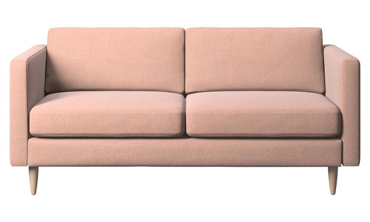 2 seater sofas - Osaka sofa, regular seat - Red - Fabric