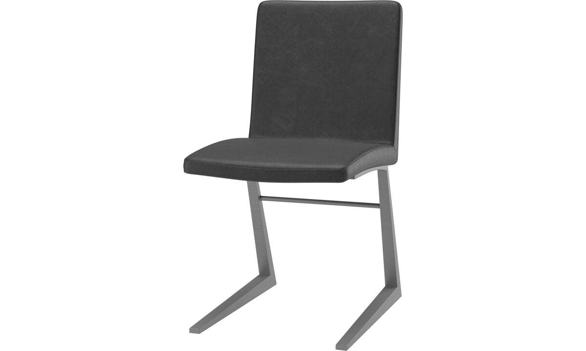 Обеденные стулья - cтул Mariposa Deluxe - Черного цвета - Кожа