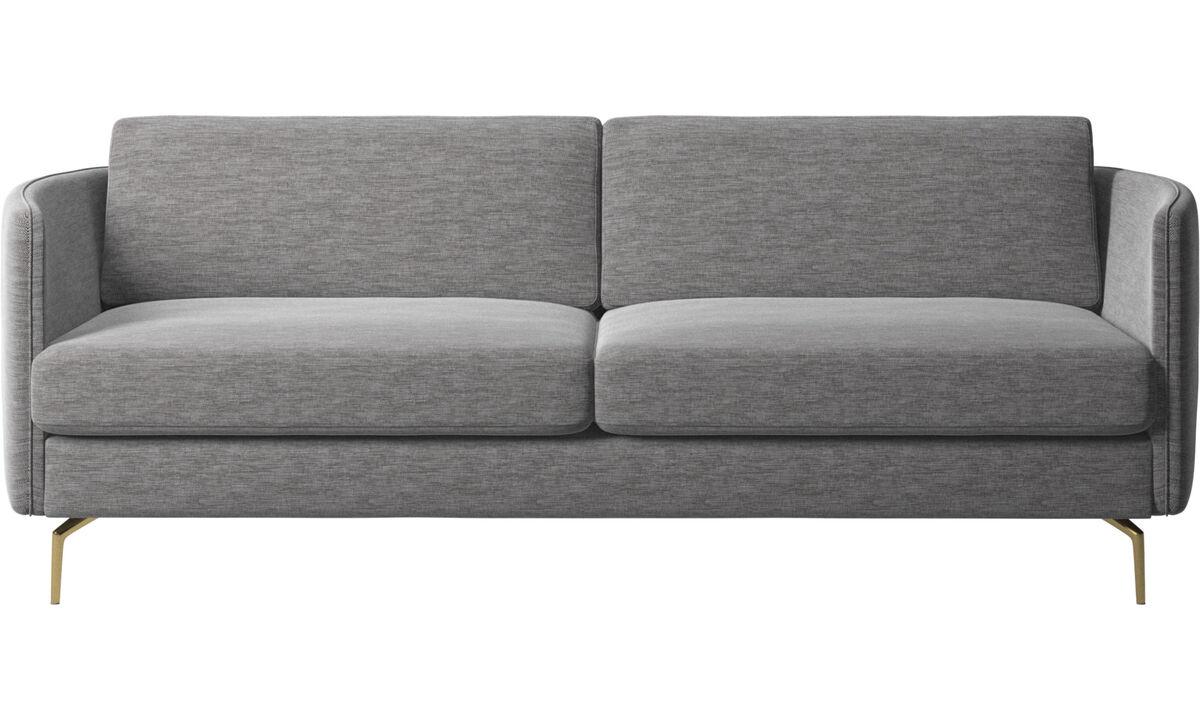 2.5 seater sofas - Osaka sofa, regular seat - Gray - Fabric