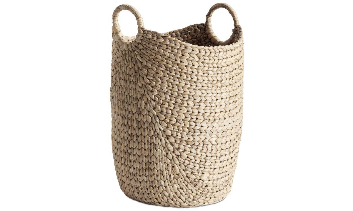 Pequeño mobiliario - cesta Hey - En beige - Cristal