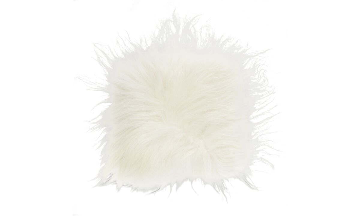 Seat cushions - Sheep seat pad - White - Sheepskin