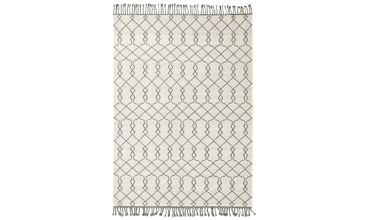 New designs - Stroc rug - rectangular - White - Fabric
