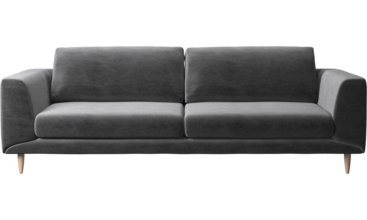 三人座沙发 - Fargo 沙发 - 灰色 - 布艺