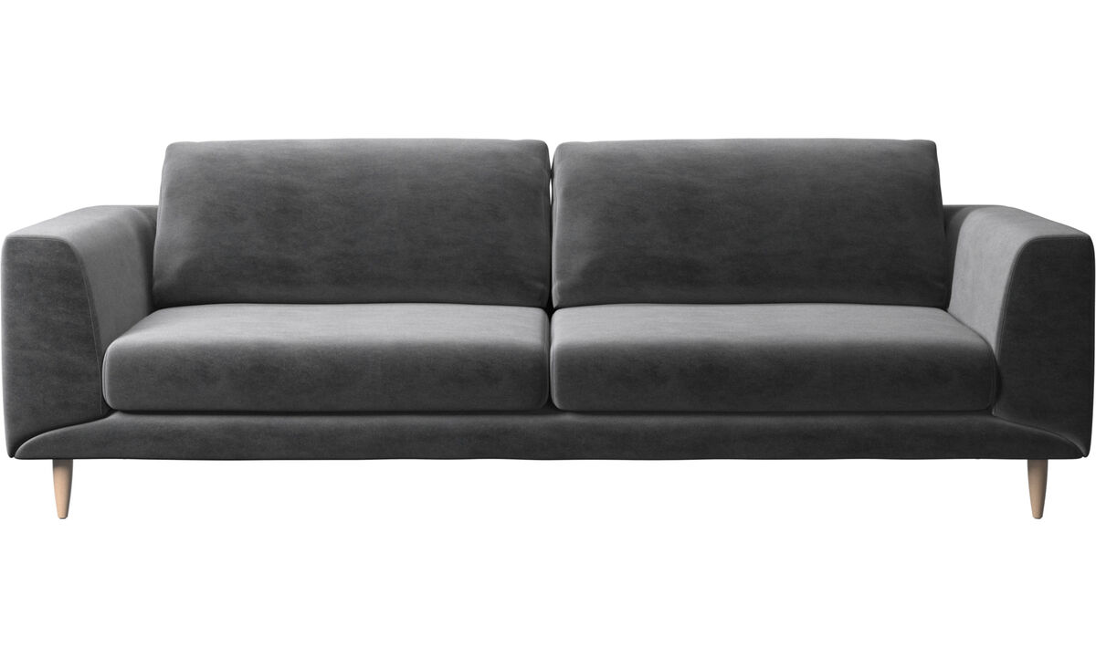 3 seater sofas - Fargo sofa - Gray - Fabric