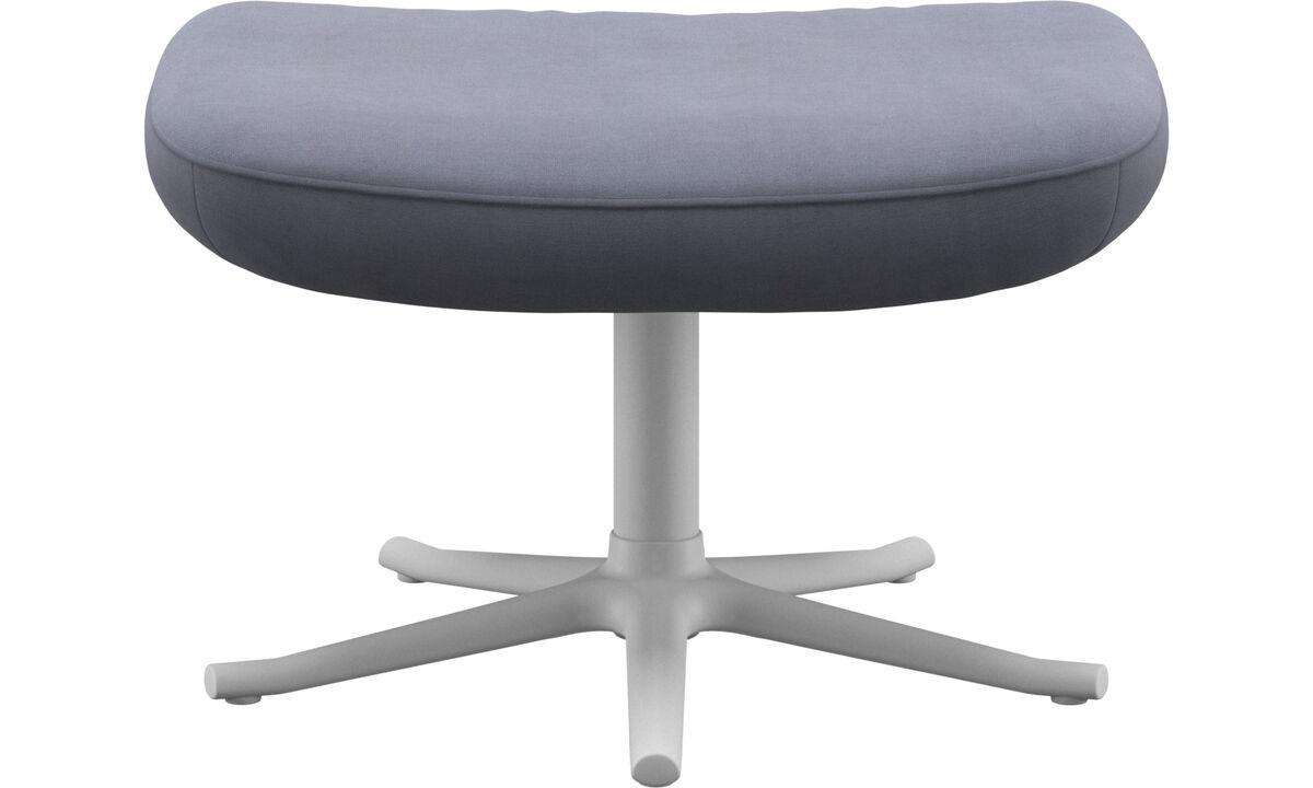Footstools - Lucca footstool - Blue - Fabric