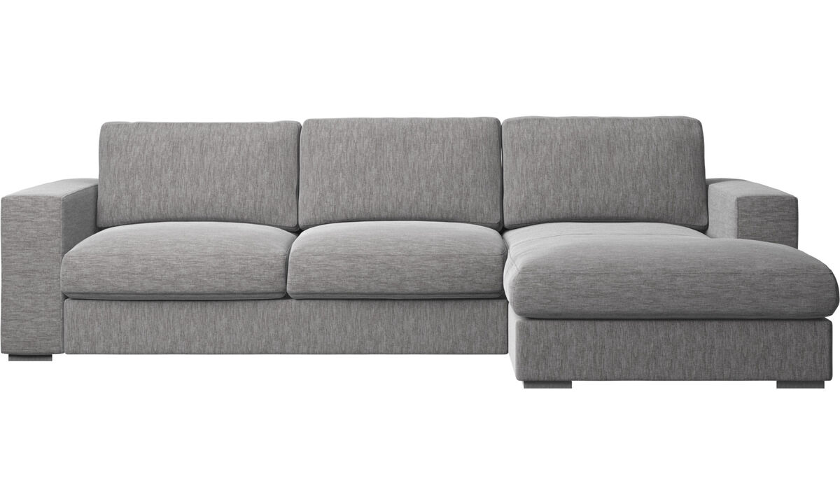 Chaise lounge sofas - Cenova sofa with resting unit - Gray - Fabric
