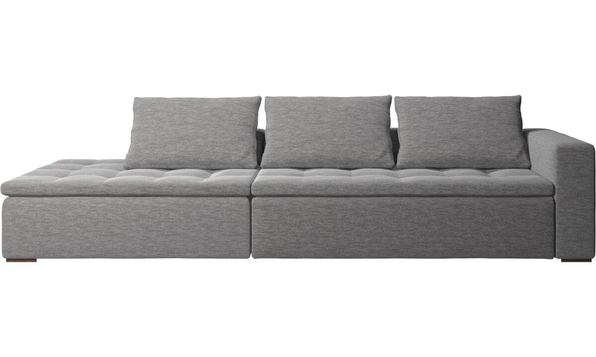 Sofás con lado abierto - sofá Mezzo con módulo de descanso - En gris - Tela