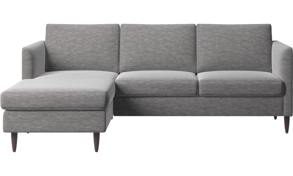 Chaise longue sofas - Indivi divano con penisola relax - Grigio - Tessuto