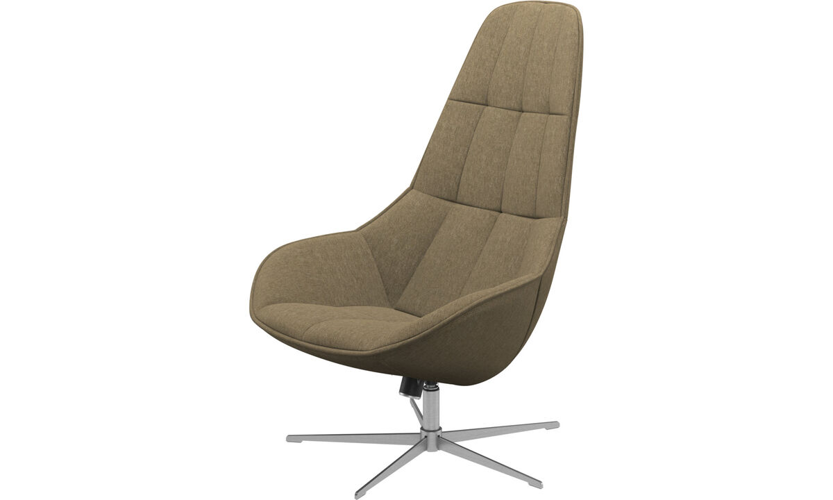 Armchairs - Boston chair with swivel and tilt function - Green - Fabric